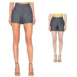 NWOT High waisted Chambray Shorts Anthropologie